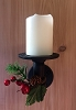 Pipe Wall Sconce Small Assembled and Painted  (Candle & Decoration not Included)